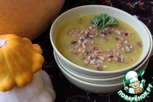 Рецепт Тыквенный суп с орехами