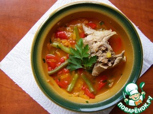 Рецепт Суп из кролика (Диета № 5)