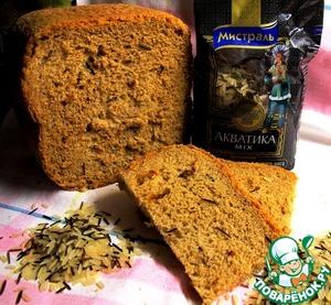 """Рецепт Хлеб """"Маномио"""" из четырех видов муки с диким рисом и вялеными томатами"""