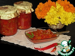 Рецепт Салат из кабачков и перца на зиму в мультиварке