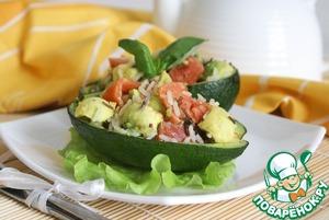 Рецепт Салат с диким рисом, авокадо и красной рыбой