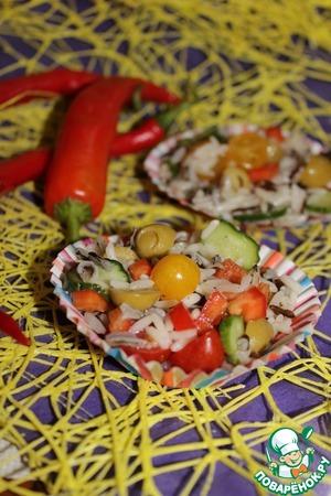 Рецепт Салат с диким рисом и оливками
