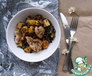 Рецепт Кролик с тыквой и диким рисом