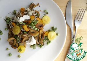 Рецепт Салат с тыквой и диким рисом