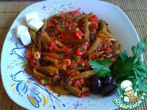 Рецепт Бамия с овощами в томатном соусе