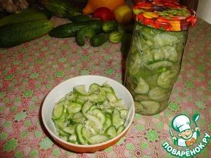 Рецепт Огуречный салат на зиму (маринованый)