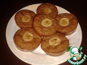 Рецепт Овсяные кексы с бананом и клетчаткой