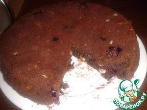 Рецепт Шоколадный пирог с вишнями и фундуком