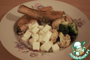 Рецепт Стейк из семги с овощами