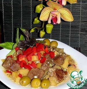 Рецепт Баранина с овощами в горшочке
