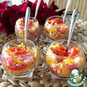 Рецепт Яркий салат с рисом и имбирем