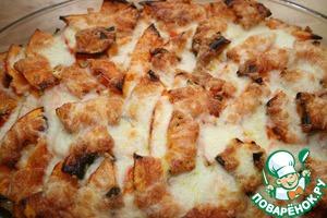 Рецепт Тыквенно-картофельная запеканка с мясным фаршем и сыром