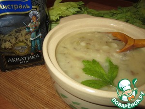 Рецепт Суп-пюре из дикого риса MIX с белым вином