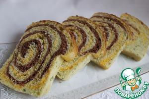 Рецепт Тостовый цветной хлеб