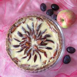 Рецепт Яблочно-сливовый тарт