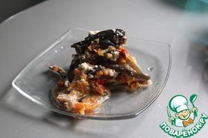 Рецепт Слоеное рагу из баклажанов с мясным фаршем