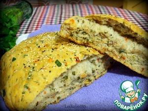 Рецепт Хлеб с помидорами и зеленью