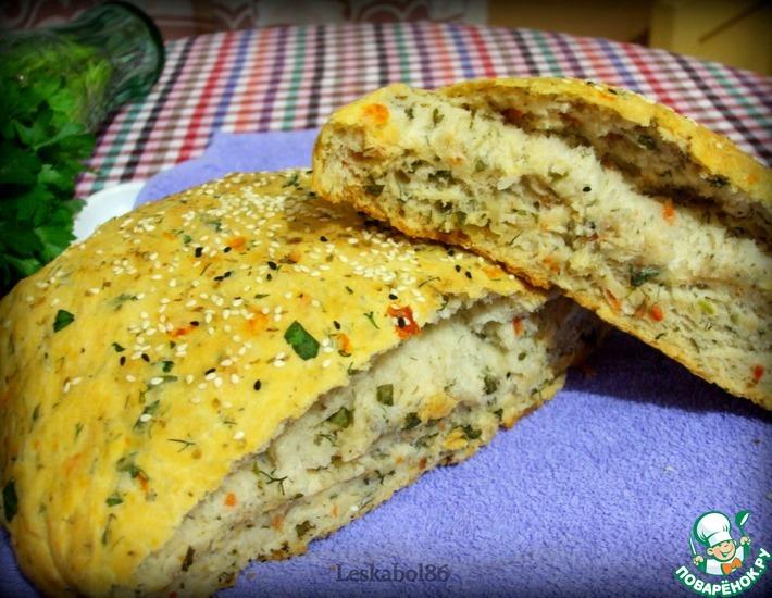Рецепт: Хлеб с помидорами и зеленью