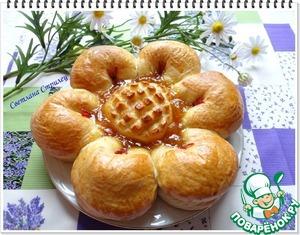 """Рецепт Пирог """"Цветок"""" с джемом"""