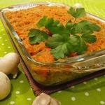 Грибной гратен с макаронами и сыром чеддер Осенний бархат