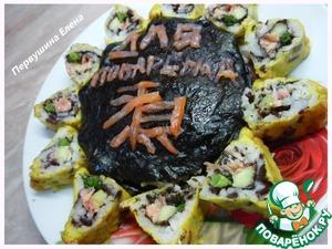 """Рецепт Японская""""Звезда"""" (ролловый торт и роллы в темпуре)"""