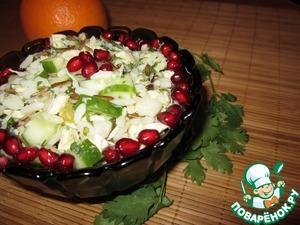 Рецепт Салат с диким рисом и курицей (оригинальная заправка)