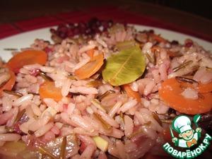 Рецепт Пикантный плов с диким рисом (без мяса)