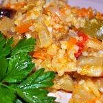 Баклажаны с овощами и рисом