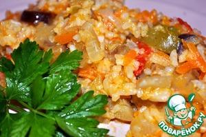 Рецепт Баклажаны с овощами и рисом