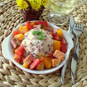 Рецепт Рис с соусом бешамель и тыквенным рагу