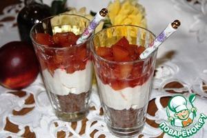 Рецепт Десерт с персиками и маскарпоне