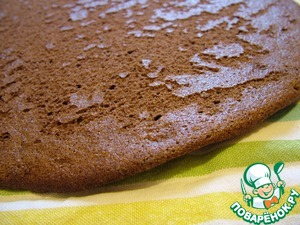 Рецепт Шоколадный шифоновый бисквит