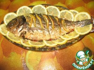 Рецепт Дорадо в фольге на подушке из овощей