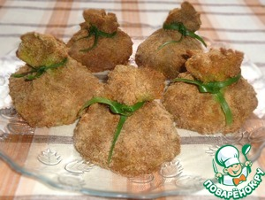 Рецепт Капустные мешочки с диким рисом, овощами, грибами, мясом и без мяса