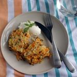 Морковная запеканка с диким рисом