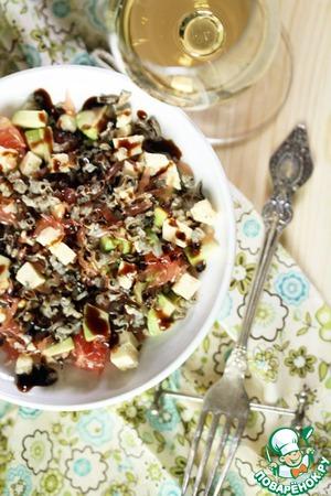Рецепт Салат из дикого риса с грейпфрутом