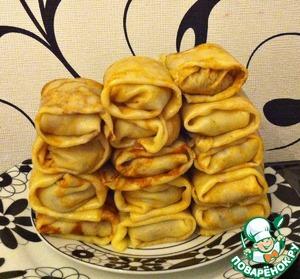 Рецепт Нежнейшие блинчики с картофелем и грибами