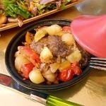 Ребрышки с овощами в мини-тажинах