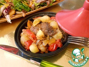 Рецепт Ребрышки с овощами в мини-тажинах