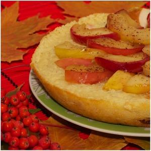 Рецепт Рисовая запеканка с медовыми яблоками из мультиварки