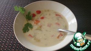 Рецепт Суп сливочный грибной с овощами