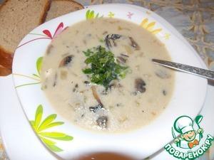 Рецепт Сырный суп с шампиньонами и рисом