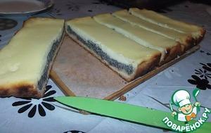 Рецепт Вкусный пирог с маковой начинкой и сметанным суфле