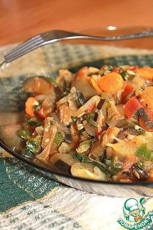 """Рецепт Тушеные овощи """"Летнее настроение"""""""