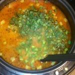 Гороховый суп с колбасным сыром