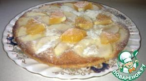 """Рецепт Пирог с яблоками и овсянкой и апельсиновой """"ноткой"""""""