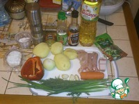 Гороховый суп с колбасным сыром ингредиенты