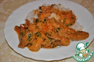 Рецепт Свинина в томатно-сметанном соусе