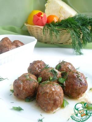 Рецепт Мясные шарики с начинкой