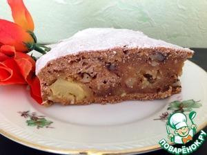 Рецепт Морковный постный пирог с ананасом и кокосовой стружкой